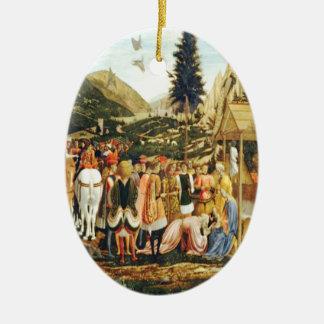 Adoration of the Magi Dated Christmas Ceramic Ornament
