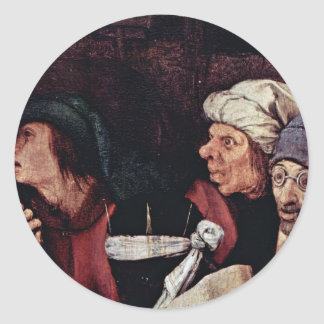 Adoration Of The Magi Detail By Bruegel D. Ä. Piet Classic Round Sticker