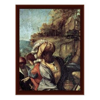 Adoration Of The Magi Detail By Correggio Post Card