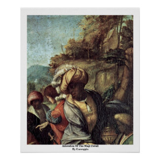 Adoration Of The Magi Detail By Correggio Print