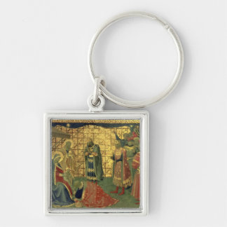 Adoration of the Magi, detail from a predella pane Keychain