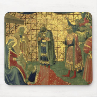 Adoration of the Magi, detail from a predella pane Mouse Pad