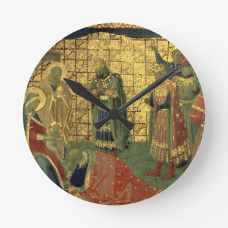 Adoration of the Magi, detail from a predella pane Round Clock