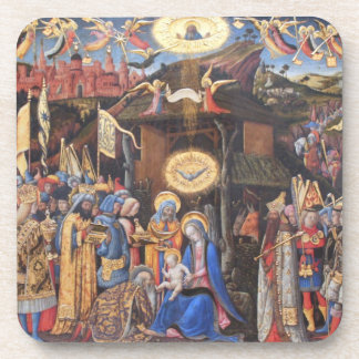 Adoration of the Magi Drink Coaster