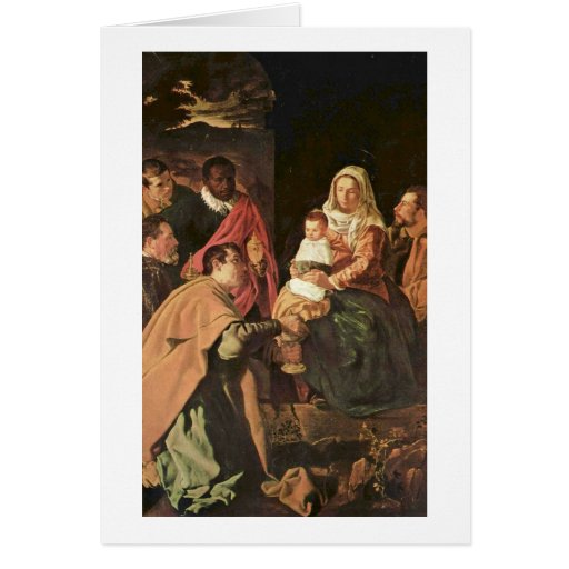 Adoration Of The Magi (Epiphany) By El Greco Greeting Card