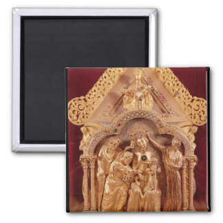 Adoration of the Magi, gabled end 2 Inch Square Magnet