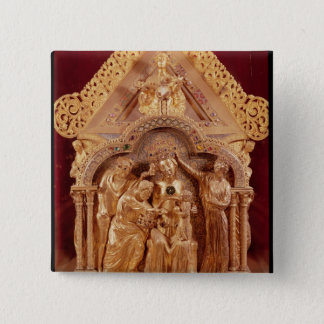 Adoration of the Magi, gabled end Button