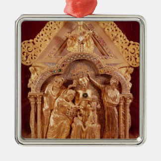 Adoration of the Magi, gabled end Metal Ornament