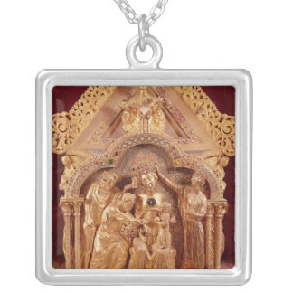 Adoration of the Magi, gabled end Silver Plated Necklace