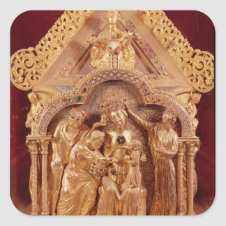 Adoration of the Magi, gabled end Square Sticker