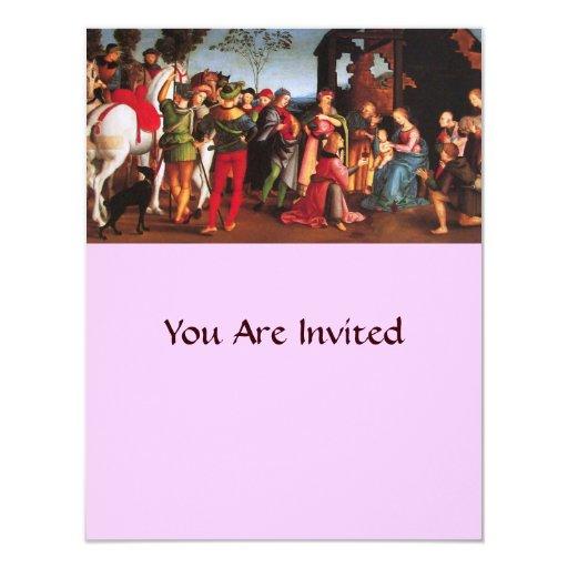 ADORATION OF THE MAGI 4.25X5.5 PAPER INVITATION CARD