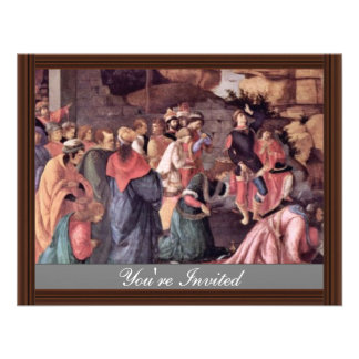 Adoration Of The Magi (London) By Botticelli Invites