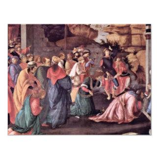 Adoration Of The Magi (London) By Botticelli Custom Invitations