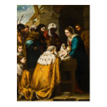 Adoration of the Magi - Murillo Post Cards