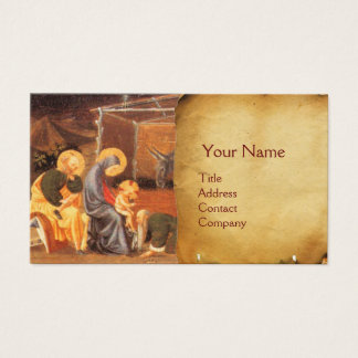 ADORATION OF THE MAGI NATIVITY PARCHMENT BUSINESS CARD