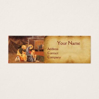 ADORATION OF THE MAGI NATIVITY PARCHMENT MINI BUSINESS CARD