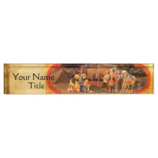 ADORATION OF THE MAGI NATIVITY PARCHMENT NAME PLATE