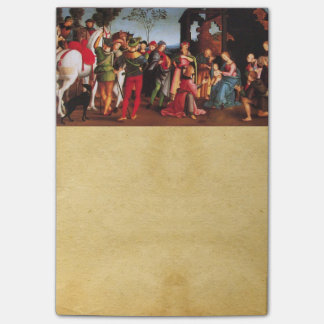 ADORATION OF THE MAGI NATIVITY PARCHMENT POST-IT NOTES