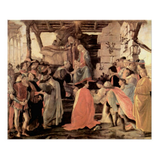Adoration of the Magi of 1475 Poster