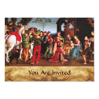 ADORATION OF THE MAGI  parchment Card