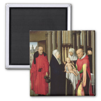 Adoration of the Magi: Right wing of triptych Magnet