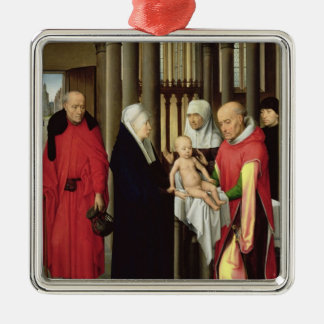 Adoration of the Magi: Right wing of triptych Metal Ornament