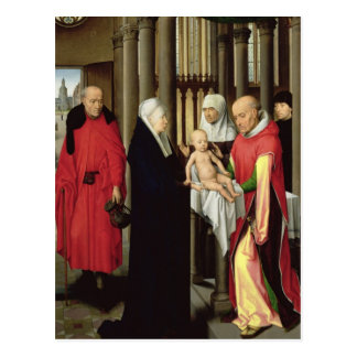 Adoration of the Magi: Right wing of triptych Postcard