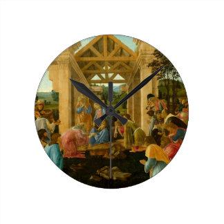 Adoration of the Magi Round Clock