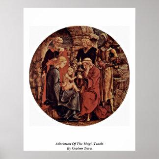 Adoration Of The Magi, Tondo By Cosimo Tura Posters