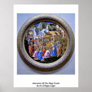 Adoration Of The Magi Tondo By Fra Filippo Lippi Print
