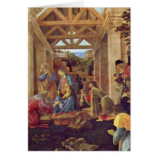 Adoration of the Magi (Washington) by Botticelli Card