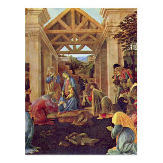 Adoration of the Magi (Washington) by Botticelli Postcard