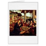 Adoration Of The Shepherd By Domenico Ghirlandaio Card
