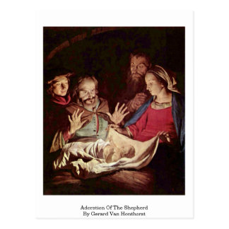 Adoration Of The Shepherd By Gerard Van Honthorst Postcard