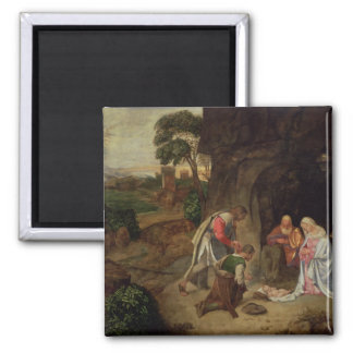 Adoration of the Shepherds, 1510 2 Inch Square Magnet