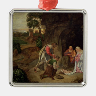 Adoration of the Shepherds, 1510 Metal Ornament