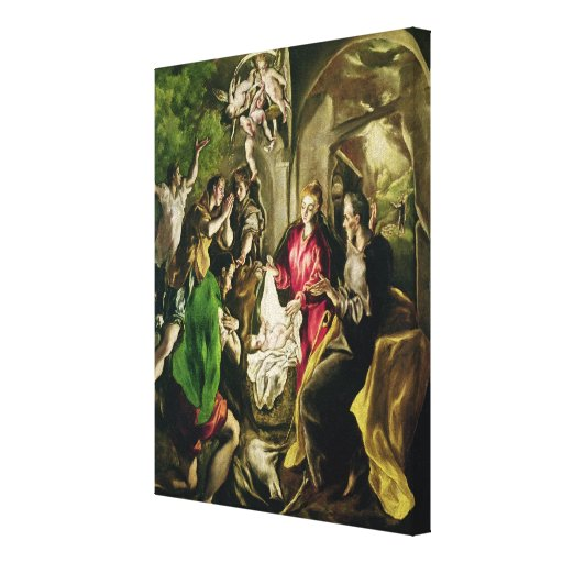 Adoration of the Shepherds, 1603-05 Canvas Print