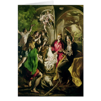 Adoration of the Shepherds, 1603-05 Card