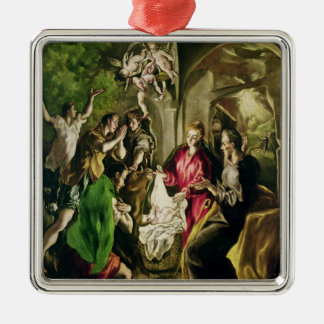 Adoration of the Shepherds, 1603-05 Metal Ornament