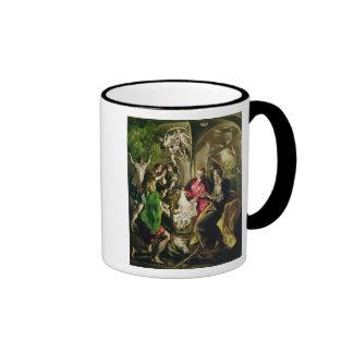Adoration of the Shepherds, 1603-05 Ringer Coffee Mug