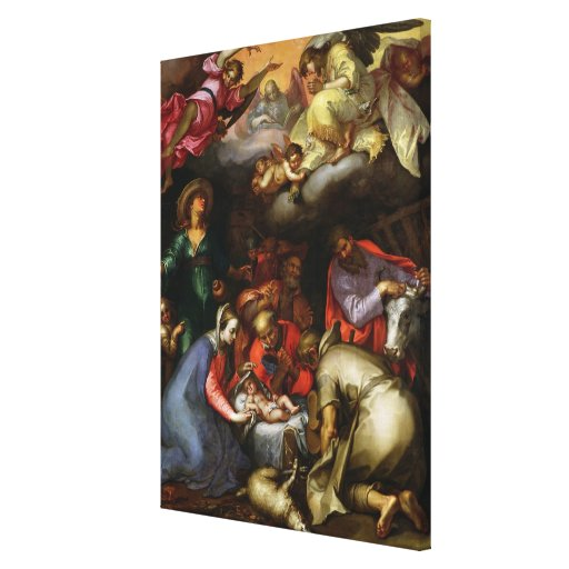 Adoration of the Shepherds, 1612 Gallery Wrapped Canvas