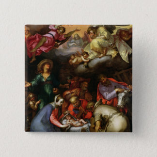 Adoration of the Shepherds, 1612 Pinback Button