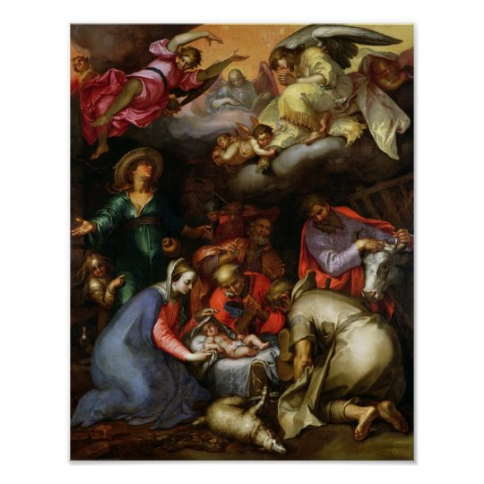 Adoration of the Shepherds, 1612 Poster