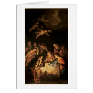 Adoration of the Shepherds, 1617 (oil on canvas) Card