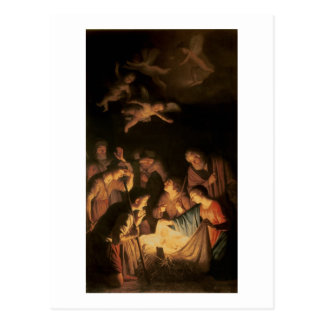 Adoration of the Shepherds, 1617 (oil on canvas) Postcard