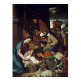 Adoration of the Shepherds, 1630 Postcard