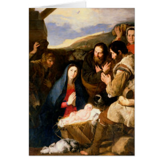 Adoration of the Shepherds, 1650 Card