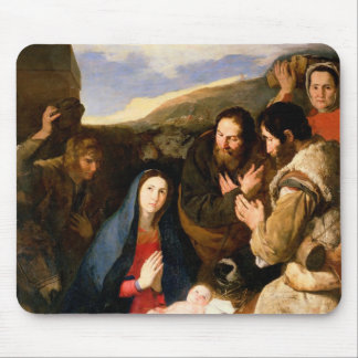 Adoration of the Shepherds, 1650 Mouse Pad