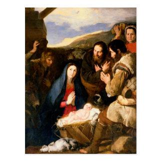 Adoration of the Shepherds, 1650 Postcard