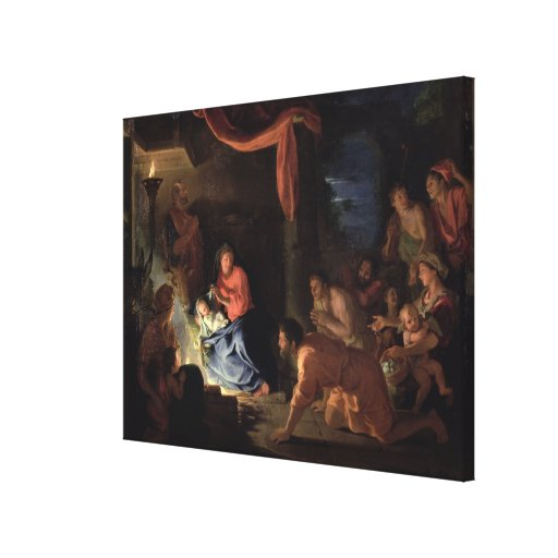 Adoration of the Shepherds, 1689 Gallery Wrapped Canvas